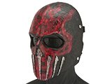 Evike.com R-Custom Wraith Fiberglass Mask w/ Wire Mesh (Color: Red Flame)