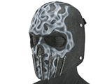 Evike.com R-Custom Wraith Fiberglass Mask w/ Wire Mesh (Color: White Flame)