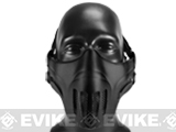 Avengers Metal Mesh Lower Half Mask with Soft Polymer Covering - Black