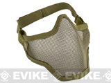 "Matrix Iron Face Carbon Striker ""Striker"" Metal Mesh Lower Half Mask (Tan)"