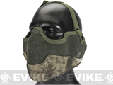 Matrix Iron Face Carbon Steel Striker Gen2 Metal Mesh Lower Half Mask (Color: Arid Camo)