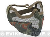 "Matrix Iron Face Carbon Steel ""Striker"" Gen2 Metal Mesh Lower Half Mask - Flecktarn"