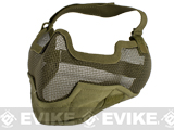 "Matrix Iron Face Carbon Steel ""Striker"" Gen2 Metal Mesh Lower Half Mask - Desert Tan"