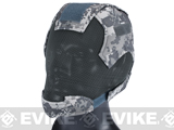 "Matrix High Speed ""Striker Helmet"" Full Face Carbon Steel Mesh Mask Helmet - ACU"