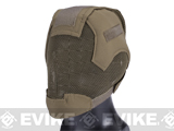 Matrix Striker Helmet Full Face Carbon Steel Mesh Mask (Color: Dark Earth)