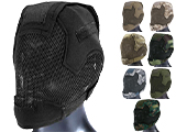 Matrix Striker Helmet Full Face Carbon Steel Mesh Mask (Color: Black)