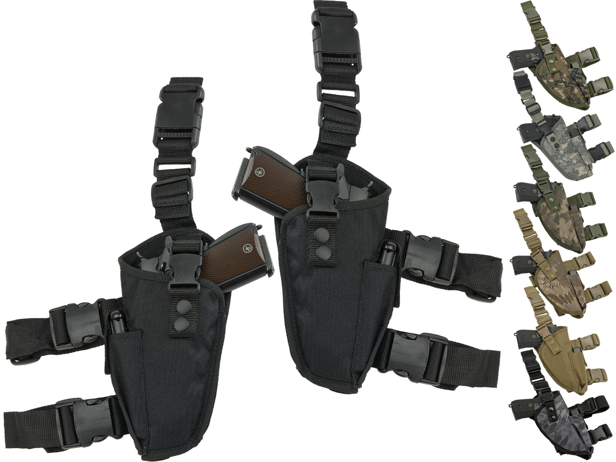 Matrix Deluxe Tactical Thigh Holster (Color: Black / Right)