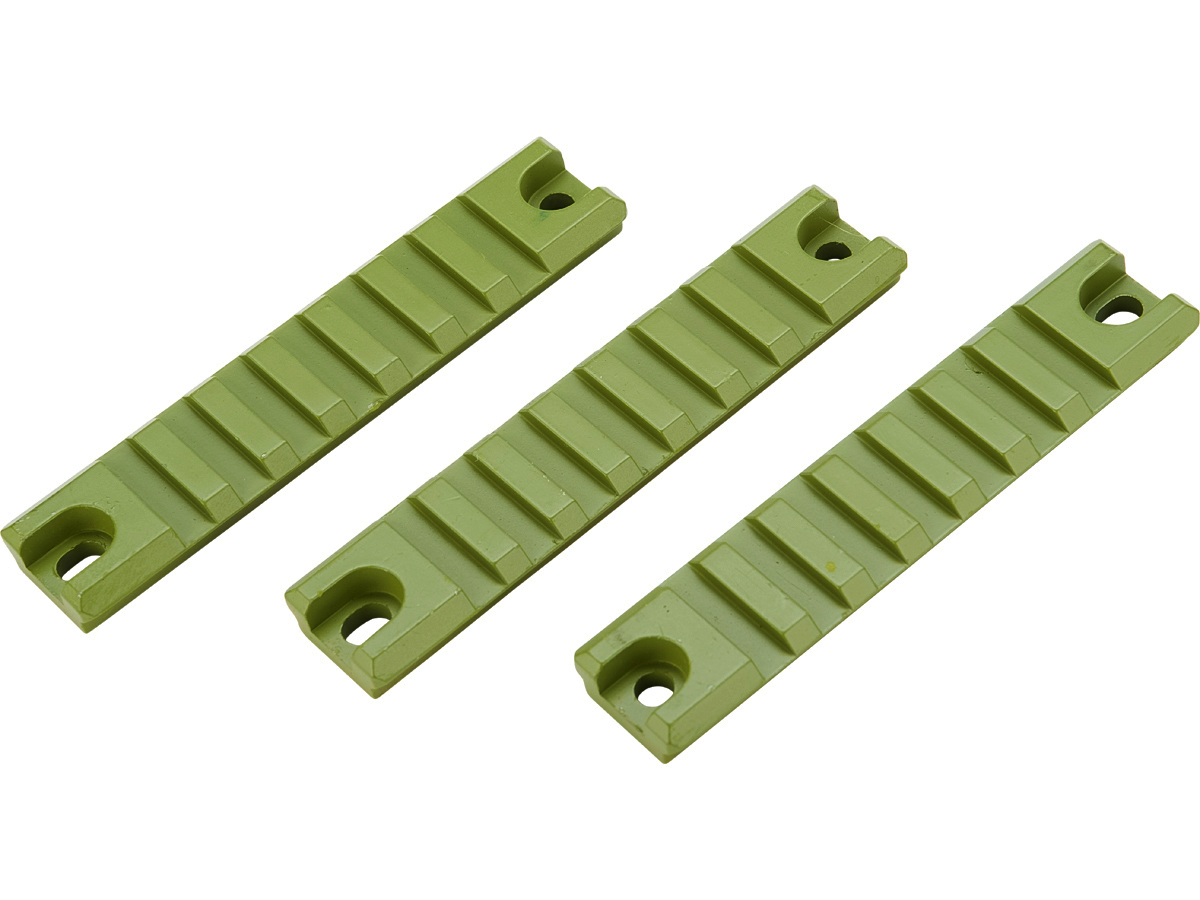 Matrix G36 / G36C Handguard Picatinny / Weaver CNC Rail Set (Color: Green / 3pc Short)