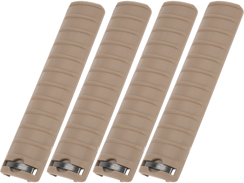 Matrix Polymer Ribbed 6.5 Rail Cover Panel - Set of 4 (Color: Tan)