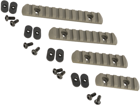Polymer Rail Set for PTS MOE Hand Guard Series (Color: Foliage Green)