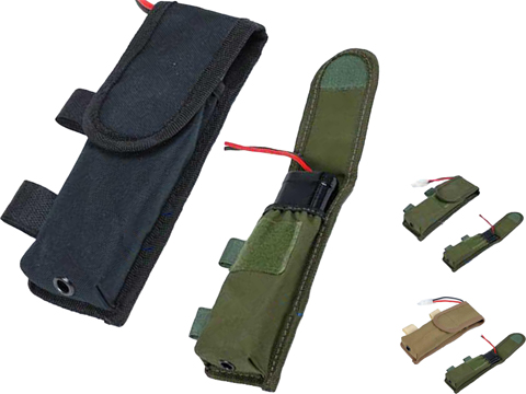 Matrix Tactical External Battery Pouch for Airsoft AEG Rifles (Color: Black)