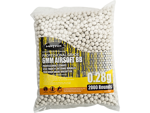 Matrix Match Grade 6mm Airsoft BBs (Weight: .28g / 2000 Rounds / White)
