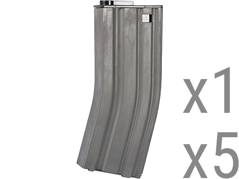 Matrix Metal 120rd Mid-Cap Magazine for M4 / M16 Series Airsoft AEG Rifles (Package: Single Magazine)