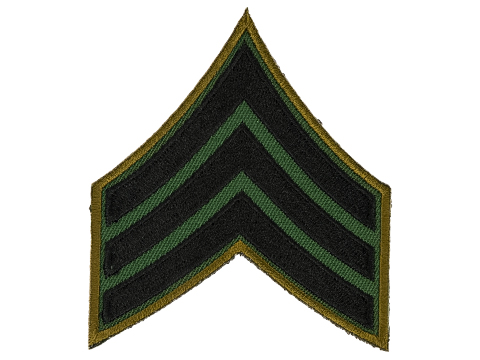 Matrix Military Ranking Embroidery Patch  (Style: Sergeant)