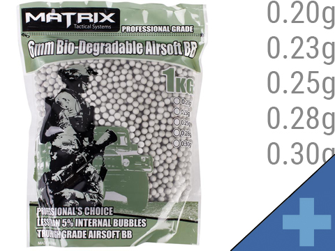 Matrix Match Grade Biodegradable 6mm Airsoft BBs (Weight: .28g / 3500 Rounds / Natural Sand Color)