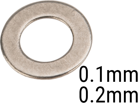 Matrix Ultra Precision Gun Smith Airsoft AEG Gearbox Shim Set (Size: .1mm and .2mm)