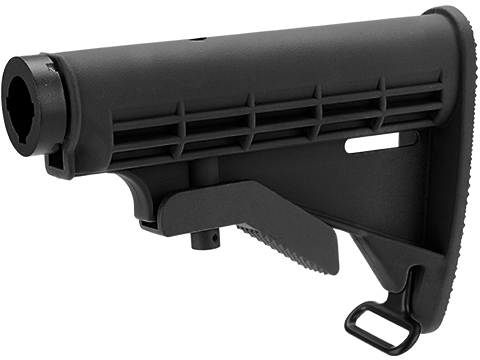 Matrix M4 Retractable LE Stock for M4 Series Airsoft Rifles (Color: Black / +AEG Buffer Tube)