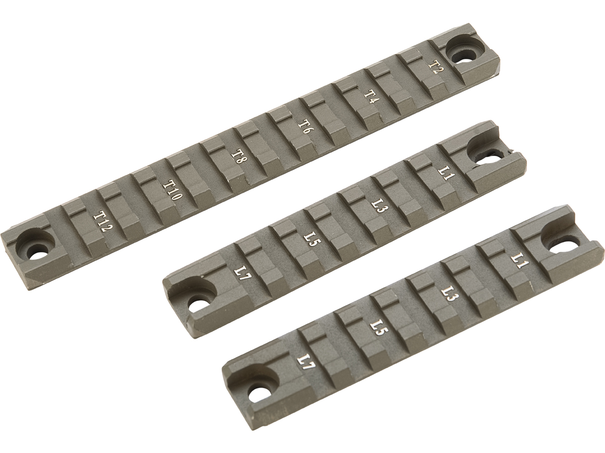 Matrix G36 / G36C Handguard Picatinny / Weaver CNC Rail Set (Color: OD Green / 2 short 1 Long)