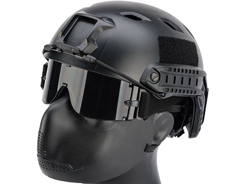 Hakkotsu Iron Face Cheek / Mouth Protection for Airsoft / Paintball (Color: Black)