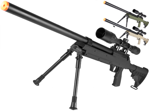Matrix ASR SR-2 Shadow Op Bolt Action Airsoft Sniper Rifle w/ LE Stock & Bipod (Model: Black)