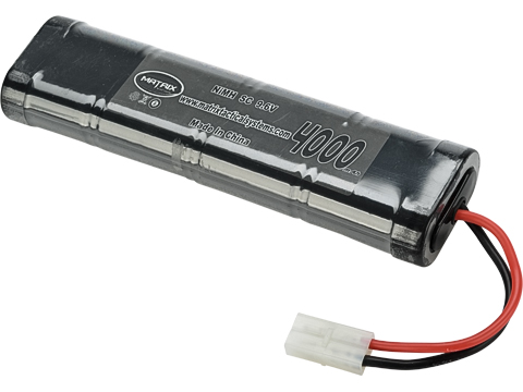 Matrix High Output Large Type Airsoft NiMH Battery (Configuration: 9.6V / 4000mAh / Large Tamiya)