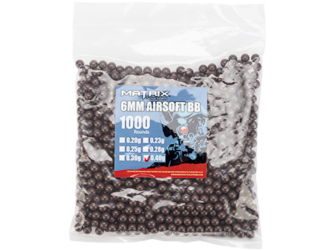 0.40g Sniper MAX Grade 6mm Airsoft BB by Matrix (Color: White / 1,000 Rounds)