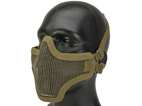 Matrix Iron Face Carbon Steel Mesh Striker V1 Lower Half Mask (Color: Tan)