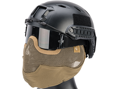 Matrix Iron Face Carbon Steel Striker Gen2 Metal Mesh Lower Half Mask (Color: Tan)
