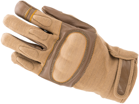 Nomex Hard Shell Knuckle Tactical Gloves (Color: Tan / Large)