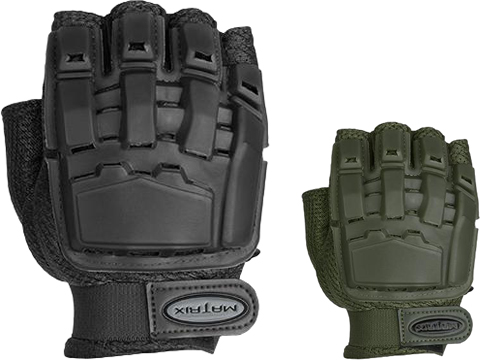 Matrix Half Finger Tactical Gloves (Color: Black / MD-LG)