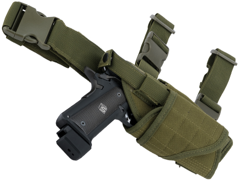 Matrix Tornado Universal Tactical Thigh / Drop Leg Holster (Color: OD Green / Right)