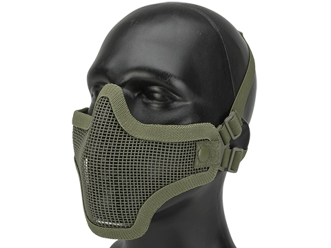 Matrix Iron Face Carbon Steel Mesh Striker V1 Lower Half Mask (Color: Ranger Green)