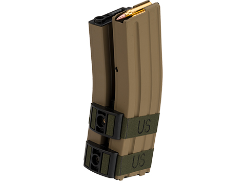 Matrix 1300rd Electric Auto Winding Dual Magazine for M4/M16 Series Airsoft AEG (Type: Sound Control / Tan)