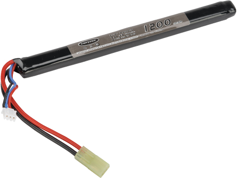Matrix High Performance 7.4V Stick Type Airsoft LiPo Battery (Configuration: 1200mAh / 20C / Small Tamiya / Long)