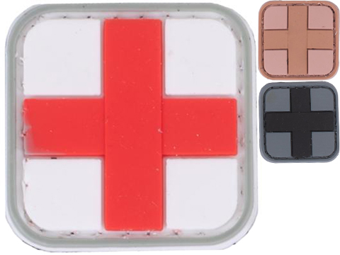 Medic Cross PVC Hook and Loop Patch