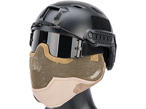 Matrix Iron Face Carbon Steel Striker Gen2 Metal Mesh Lower Half Mask (Color: 3 Color Desert)