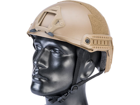Matrix Basic High Cut Ballistic Type Tactical Airsoft Bump Helmet (Color: Dark Earth)