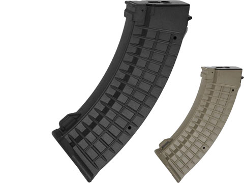 Matrix 110rd Waffle Type Polymer Magazine for AK Series Airsoft AEG Rifles