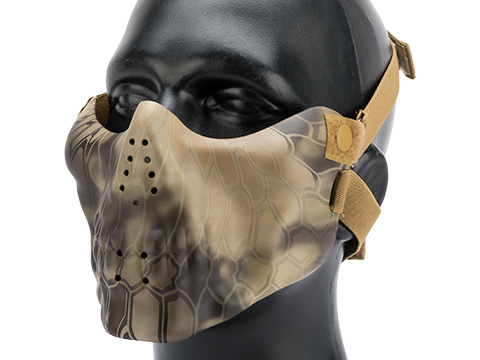 Avengers Iron Face Skull Imprint Nylon Lower Half Mask  (Color: Kryptek Highlander)