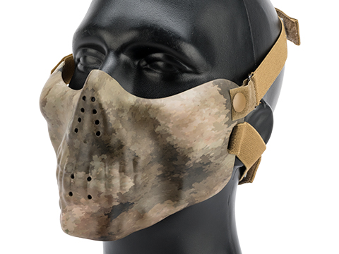 Avengers Iron Face Skull Imprint Nylon Lower Half Mask (Color: Arid Camo)