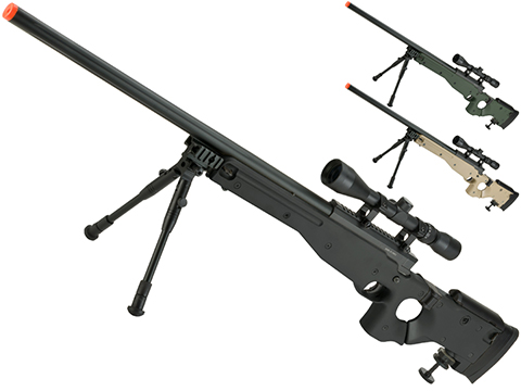Matrix AW-338 MB08D Bolt Action Airsoft Sniper Rifle with Folding Stock by WELL (Color: Black)