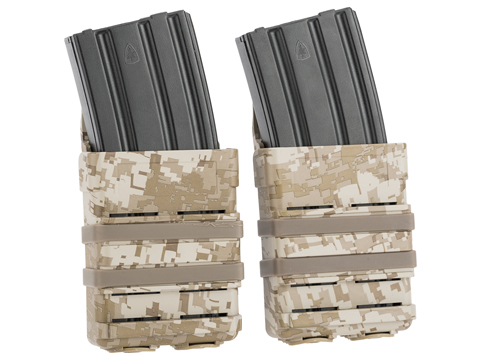 Matrix Fast Hard Shell Magazine Holster - 2x Rifle Mag Configuration (Color: Digital Desert)