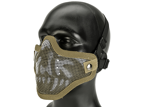 Matrix Iron Face Carbon Steel Mesh Striker V1 Lower Half Mask (Color: Desert Skull)