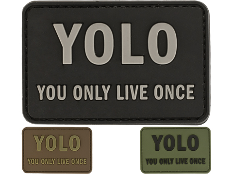 YOLO 'You Only Live Once' Tactical PVC Morale Patch (Color: Black)
