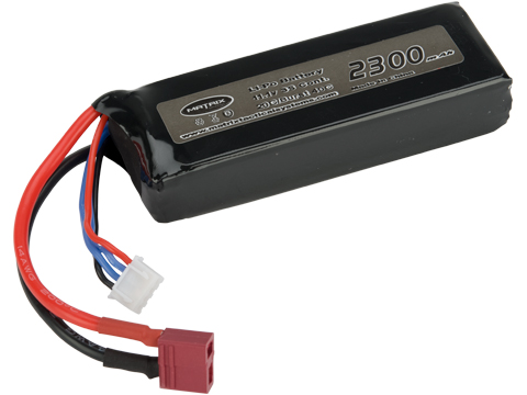 Matrix High Performance 11.1V Brick Type Airsoft LiPo Battery (Configuration: 2300mAh / 20C / Deans)