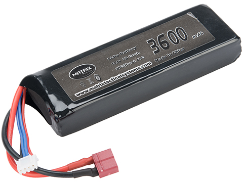 Matrix High Performance 11.1V Brick Type Airsoft LiPo Battery (Configuration: 3600mAh / 12C / Deans)