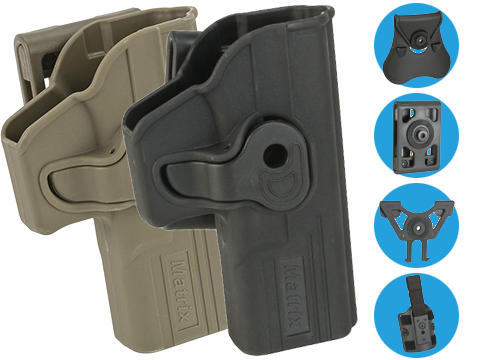 Matrix Hardshell Adjustable Holster for Glock G19, G17, ATP ACP Series Airsoft Pistols