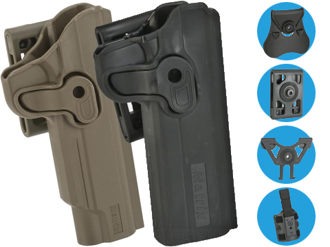 Matrix Hardshell Adjustable Holster for 1911 Series Airsoft Pistols