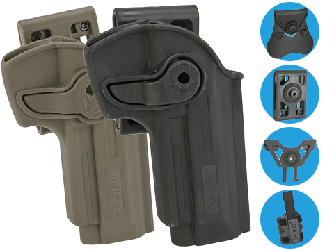 Matrix Hardshell Adjustable Holster for M9 Series Airsoft Pistols (Type: Black / No Mount)