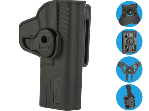Matrix Hardshell Adjustable Holster for S&W M&P9 Series Pistols (Mount: Paddle Attachment)